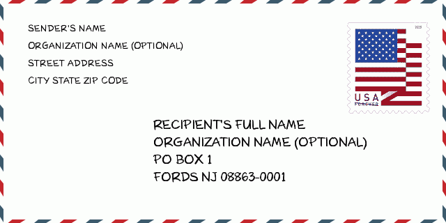 Zip Code 5 08863 Fords Nj New Jersey United States Zip Code